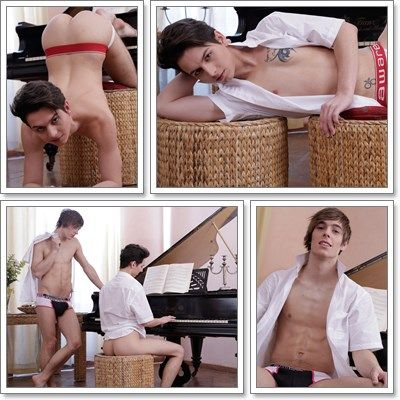Tickling More Than The Ivories | Barely Legal Guys | Daily Dudes @ Dude Dump