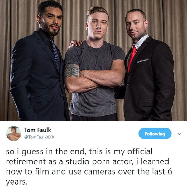 Tom Faulk retires, gets fucked | Daily Dudes @ Dude Dump