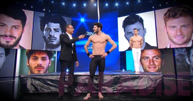 Tommaso Rinaldi boner during TV show!   Daily Dudes @ Dude Dump