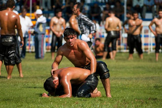 Turkish Oil Wrestling – Too Fucking Hot! | Daily Dudes @ Dude Dump