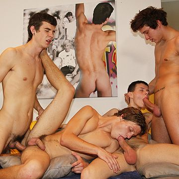 Twink Bareback Group Fuck | Daily Dudes @ Dude Dump