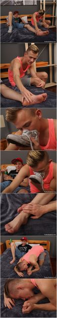 Twink Sniffs Sneakers and Licks Feet | Daily Dudes @ Dude Dump