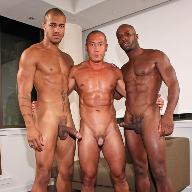 Two Black Studs & One Asian Hunk | Daily Dudes @ Dude Dump