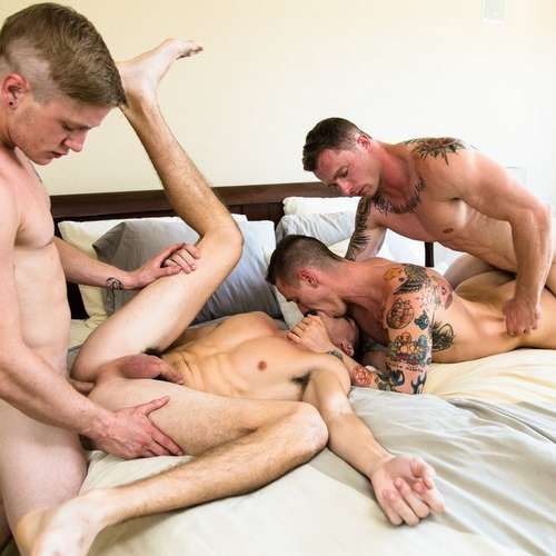 """Two Gay Couples Fuck Raw in """"Swinger Stories"""" 