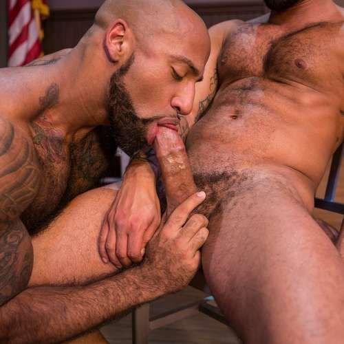 Two Hairy Cops Suck Dicks at RAGING STALLION | Daily Dudes @ Dude Dump