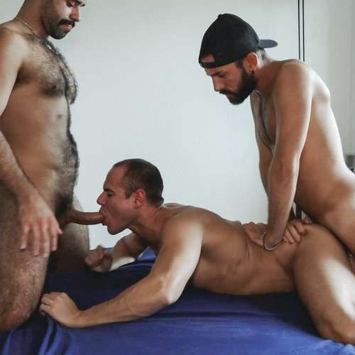 Two Hairy Studs Fuck Devian Raw at ERIC RAW   Daily Dudes @ Dude Dump