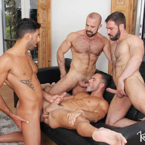 Two Hot Gay Couples Fuck Raw | Daily Dudes @ Dude Dump