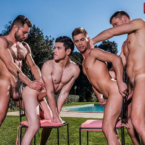 Two Muscle Studs Fuck Two Twinks Outdoor   Daily Dudes @ Dude Dump