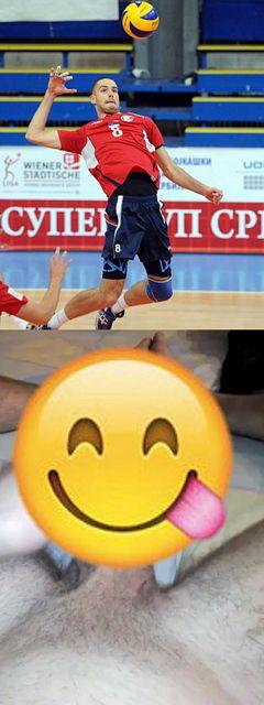 Volleyball Player Radisa Stevanovic huge cock! | Daily Dudes @ Dude Dump