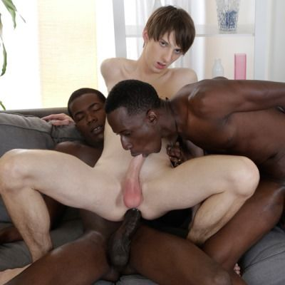 White Twink Double Penetrated By Black Cocks | Daily Dudes @ Dude Dump