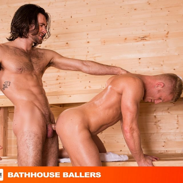 "Woody Fox Fucks Johnny V in ""Bathhouse Ballers 