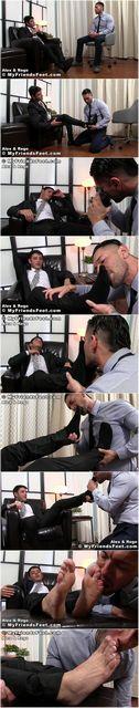 Worshiping His Boss' Feet | Daily Dudes @ Dude Dump