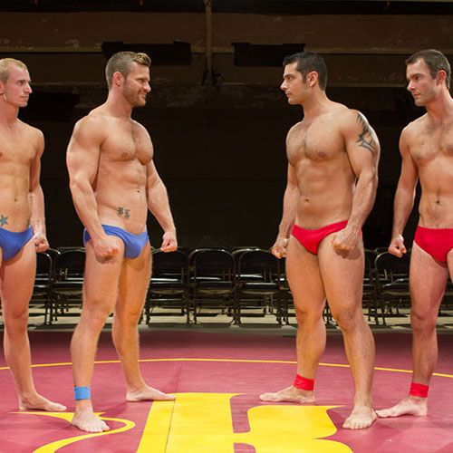 Wrestling Foursome | Daily Dudes @ Dude Dump