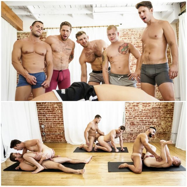 Yoga Class Orgy | Daily Dudes @ Dude Dump