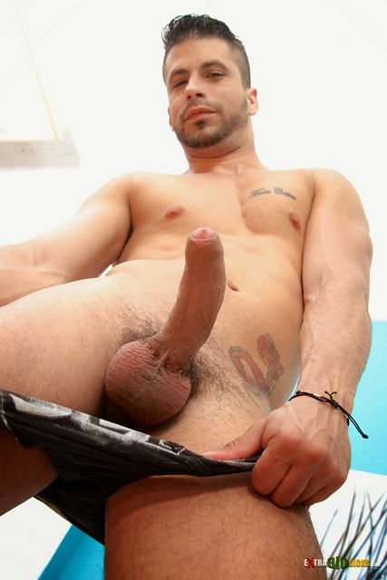 Yummy Cuban Ray Han shows off his big uncut cock | Daily Dudes @ Dude Dump